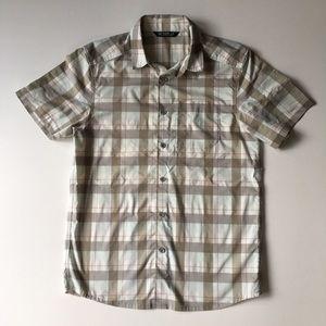 Arc'teryx Men M Plaid Casual Short Sleeve Shirt